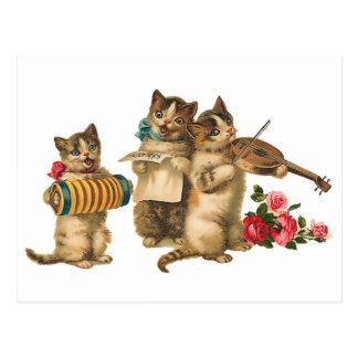 Gatos musicales postales