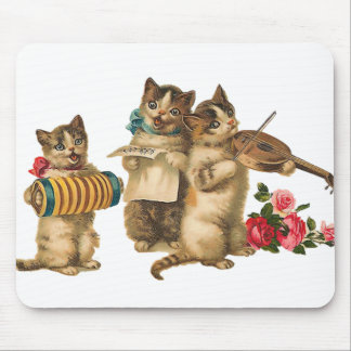 Gatos musicales tapetes de raton