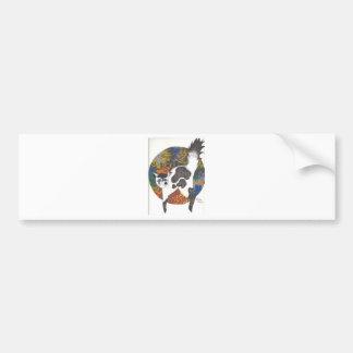 Gatos - negro y blanco pegatina de parachoque