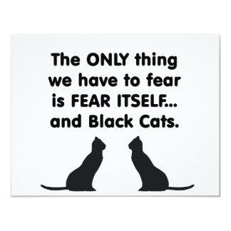 Gatos negros 2 del miedo sí mismo invitaciones personalizada