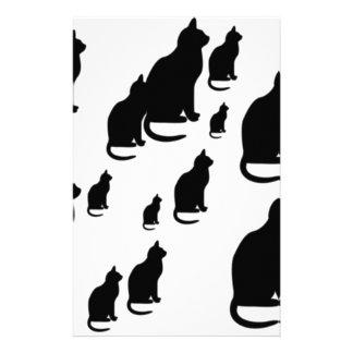 Gatos negros afortunados de la silueta del © P Whe Papeleria De Diseño
