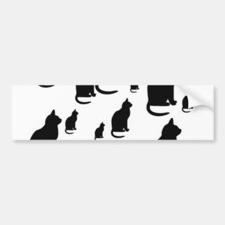 Gatos negros afortunados de la silueta del © P Whe Pegatina Para Auto