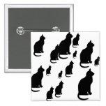 Gatos negros afortunados de la silueta del © P Whe Pin