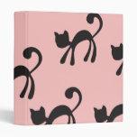 """Gatos negros artsy en rosa carpeta 1"""""""