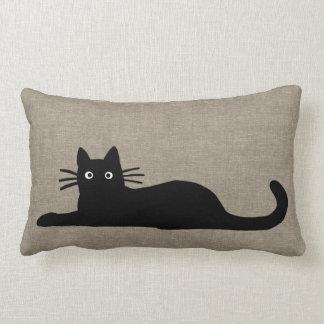 Gatos negros cojín lumbar