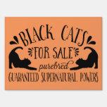 Gatos negros del vintage de Halloween para la Letrero