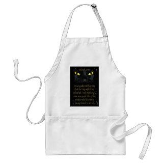 Gatos negros delantal
