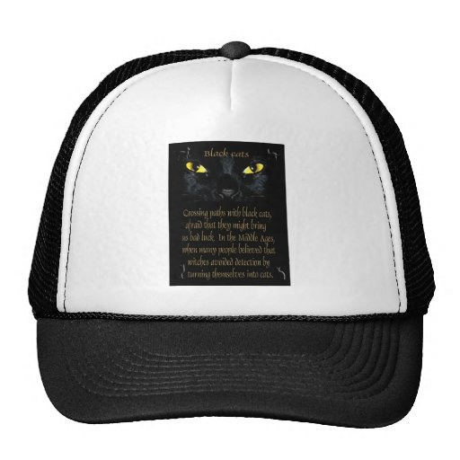 Gatos negros gorro de camionero