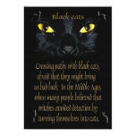Gatos negros invitación 12,7 x 17,8 cm