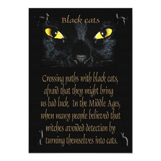 """Gatos negros invitación 5"""" x 7"""""""