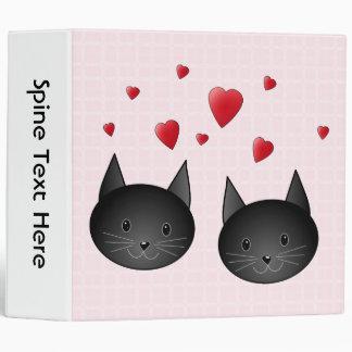 """Gatos negros lindos con los corazones, en pálido - carpeta 2"""""""
