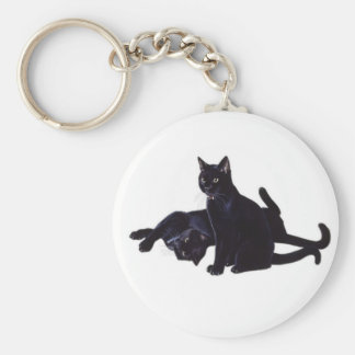 gatos negros llavero redondo tipo pin
