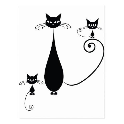 Gatos negros postales