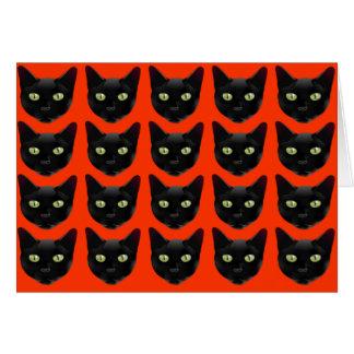 Gatos negros tarjeta pequeña