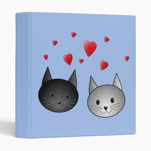 """Gatos negros y grises lindos, con los corazones carpeta 1"""""""