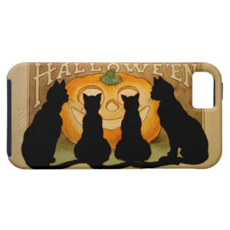 Gatos negros y Jack O'Lantern iPhone 5 Funda