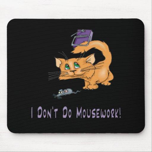 Gatos: ¡No haga Mousework! Tapetes De Ratones