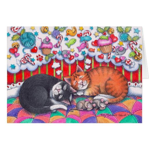 Gatos Notecard #98 del navidad Tarjeta De Felicitación