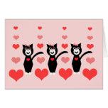 Gatos Notecard de la tarjeta del día de San Valent