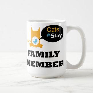 Gatos oficiales para permanecer la taza del café o