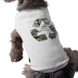 """""""Gatos para camiseta del gato del ambiente"""" Playera Sin Mangas Para Perro"""
