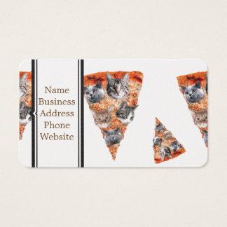 Gatos para el Pizza-Amante Tarjetas De Visita