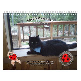 ¡Gatos para la conciencia del VASO! Calendarios De Pared