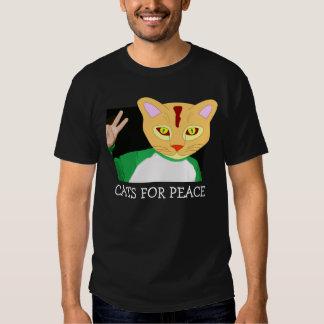 Gatos para la paz, camisetas playeras