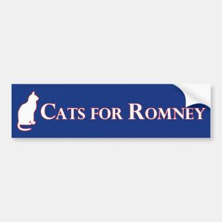 Gatos para la pegatina para el parachoques de Romn Pegatina Para Auto