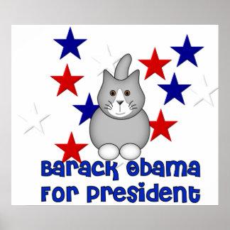 Gatos para Obama Posters