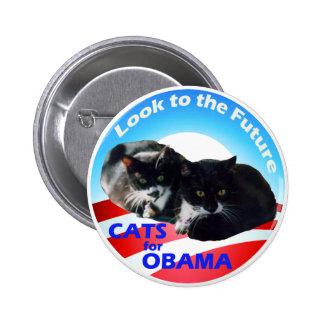 Gatos para Obama Pin