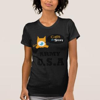 Gatos para permanecer a la familia los E.E.U.U. Camisetas
