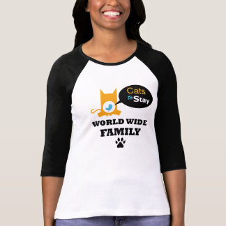 Gatos para permanecer el uniforme mundial de la he camisetas