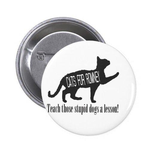 Gatos para Romney Pin