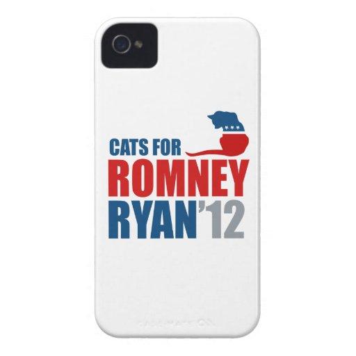 GATOS PARA ROMNEY RYAN.png Case-Mate iPhone 4 Carcasas