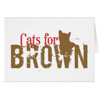 Gatos para Scott Brown - senado de New Hampshire Tarjeta De Felicitación