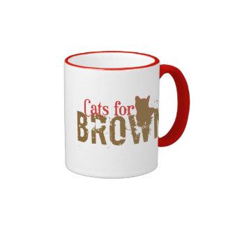 Gatos para Scott Brown - senado de New Hampshire Tazas De Café
