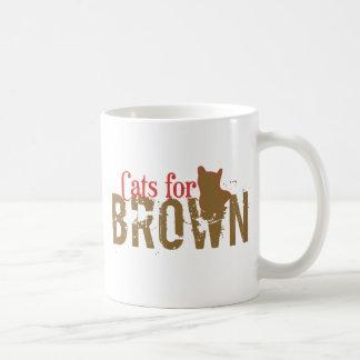 Gatos para Scott Brown - senado de New Hampshire Taza Básica Blanca