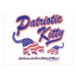 Gatos patrióticos del gatito postales