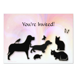 Gatos, perros, invitación de Etc. Animal