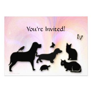 Gatos perros invitación de Etc Animal Silhouett