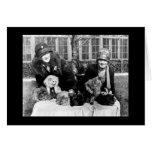 Gatos persas y señoras americanas 1924 felicitacion