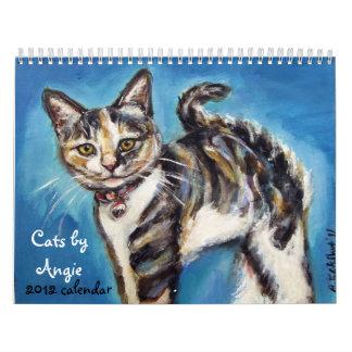 Gatos por el calendario de Angie 2012