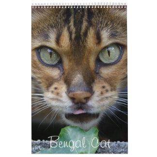 Gatos preciosos hermosos 2017 de Bengala Calendario De Pared
