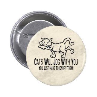 Gatos que activan pin redondo 5 cm