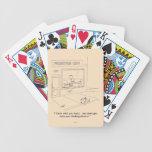 Gatos que agarran los muebles baraja de cartas
