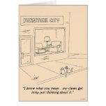 Gatos que agarran los muebles felicitación