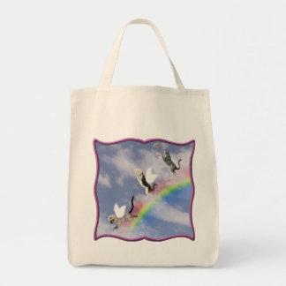 Gatos que cogen el marco de la púrpura de los halo