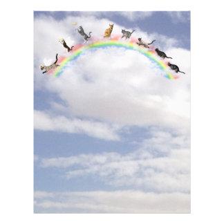 Gatos que esperan en el puente del arco iris membrete personalizado
