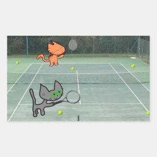 Gatos que juegan a tenis